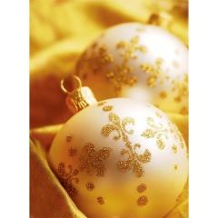 """Пакет подарочный с верев.ручками, ламинир.,33х45,5см, """"Золотые шары"""", Арт Дизайн"""