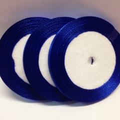 Лента атласная 0,6 см. / 25 ярдов (синий), Китай