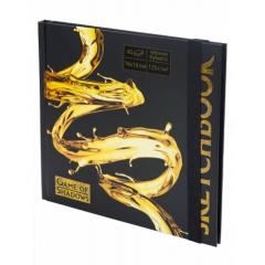 "Скетчбук А6+ (16х16см), 40л.,тверд.обложка, ""Golden style"" (черная бумага), MILAND, РФ"