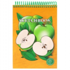 Скетчбук А5, 64л., цв. спираль, тв. обложка, Apple Fresh, MILAND, РФ