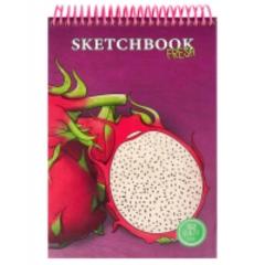 Скетчбук А5, 64л., цв. спираль, тв. обложка, Dragon Fruit Fresh, MILAND, РФ