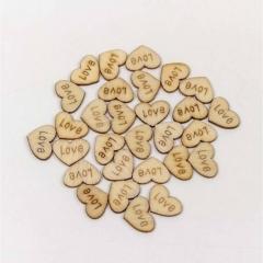 """Цветочный аксессуар декор. """"Сердечки с надписью"""" 1,8 см (100 шт) OMG gift, Китай"""