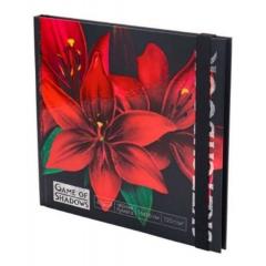 """Скетчбук А6+ (16х16см), 40л.,тверд.обложка, """"ЦВЕТОК"""" (черная бумага), MILAND, РФ"""