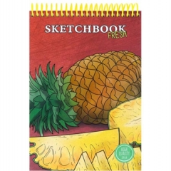 Скетчбук А5, 64л., цв. спираль, тв. обложка, Pineapple Fresh, MILAND, РФ