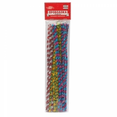 Набор для декорирования Проволока пушистая блестящая, двухцветная,d=0.6см. длина 30см. набор 30шт, РФ