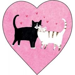 Мини-открытка двойная Коты (код Д), Арт Дизайн