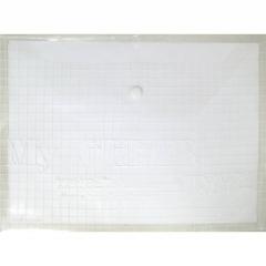 Папка-конверт на кнопке А4, тонкая, ПРОЗРАЧНАЯ, Китай