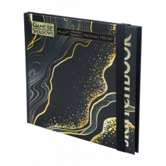 """Скетчбук А6+ (16х16см), 40л.,тверд.обложка, """"МРАМОР"""" (черная бумага), MILAND, РФ"""